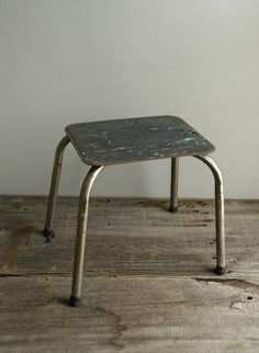 vintage metal step stool & Vintage kitchen stool step stool stool chair by moxiethrift ... islam-shia.org