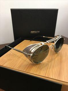 Matsuda Heritage Collection 2809 H Men Sunglasses Fashion, Fashion Eye Glasses, Matsuda Sunglasses, Leather Tutorial, Round Metal Sunglasses, Steampunk Sunglasses, Sunglasses Outlet, Mens Glasses, Vintage