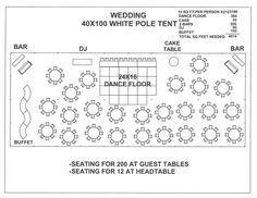Wedding 40x100 White Pole Tent A
