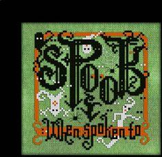 Spook When Spoken To - Cross Stitch Pattern by Carousel Charts
