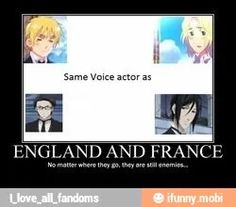 England, France, Claude, Sebastian...---- can't forget that Russia has the same voice actor as Lau