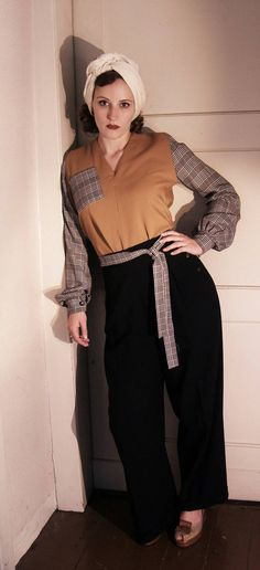 Sieh dir dieses Produkt an in meinem Etsy-Shop https://www.etsy.com/listing/274972560/1940s-style-ladies-pull-over-shirt