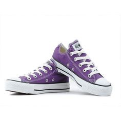 Converse Shoes Purple Chuck Taylor All Star Classic Low, yeah mine look nothing like that anymore...