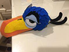 Zazu mask made for Lion King Junior- constructed onto baseball cap
