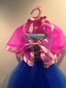 Girls 2t - 4t Frozen Anna Inspired Tutu Holiday Christmas Dress Costume W/ Cape