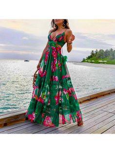Hawaii Outfits, Summer Outfits, Summer Dresses, Hawaii Clothes, Hawaii Dress, Womens Fashion Online, Latest Fashion For Women, Fashion Women, Dress Outfits
