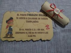 Invitaciones De Jake Y Los Piratas Del Pais Nunca Jamas MLV F
