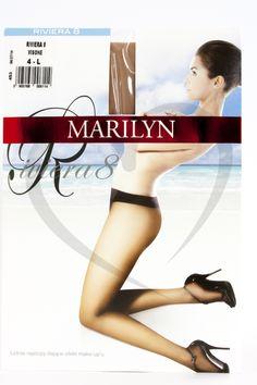 CIENKIE RAJSTOPY MARILYN RIVIERA 8DEN r 4-L - 4960129205 - oficjalne archiwum allegro