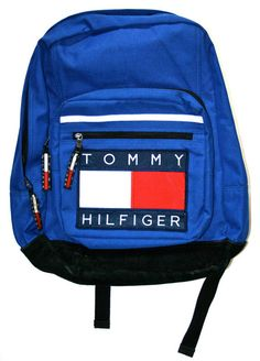 Vintage 90s Tommy Hilfiger Blue Backpack ($65.00) - Svpply