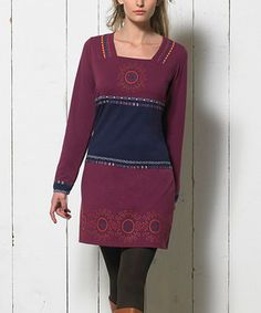 Love this Fuchsia Square Neck Dress - Women by Coline USA on #zulily! #zulilyfinds