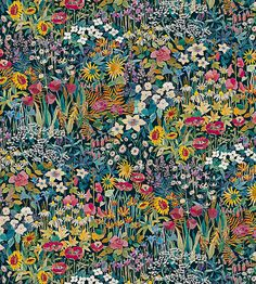 Faria Flowers - Marigold fabric, from the The Secret Garden collection by Liberty Art