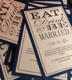 Our homemade wedding invitations!