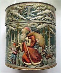 Old Christmas Cookie Tin - H. Haeberlein, Nürnberg Germany