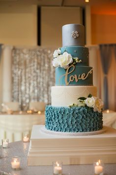 Love cake country blue