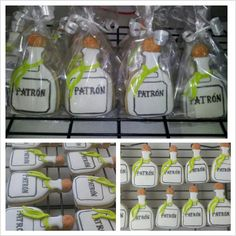 Items similar to Patron Bottle Sugar Cookies .GreeksNSweets on Etsy Iced Cookies, Cute Cookies, Cupcake Cookies, Sugar Cookies, 21st Birthday Cupcakes, Birthday Bbq, Birthday Cookies, Birthday Ideas, Tequila Cake