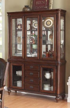 Anson Collection Dining Room Buffet Server In Rich Brown By Coaster Home Furnishings 71891