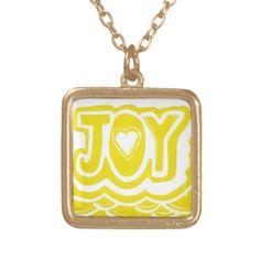 Joy Necklace; Abigail Davidson Art; ArtisanAbigail at Zazzle