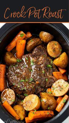 Beef Pot Roast, Roast Beef Recipes, Healthy Crockpot Recipes, Cooking Recipes, Crockpot Beef Roast Recipes, Slow Cook Pot Roast, Healthy Pot Roast, Meat Recipes, Crockpot Potroast