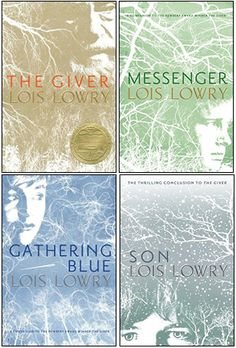 The Giver Quartet {The Giver, Gathering Blue, Messenger, Son} by Lois Lowry  Read the first 3 last year, and just finished the last one, Son, today - 9/21/13