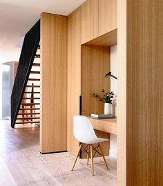 Mid-century modern furnishings and soft natural finishes, including expansive timber cladding and floorboards, create a warm atmosphere in an inner-city Melbourne home by @inglisarchitects. : Derek Swalwell. #architecture #interior #design #interiordesign #melbourne #house #wood... - Interior Design Ideas, Interior Decor and Designs, Home Design Inspiration, Room Design Ideas, Interior Decorating, Furniture And Accessories
