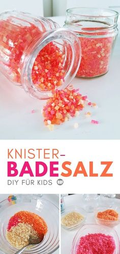 Magischer Badespaß: Knister-Badesalz für Kinder selber machen Simple instructions / recipe for homemade bath salts for children. Magic crackle bath salt for kids to make yourself. How to Make Homemade Bath Salts via Presents For Her, Holiday Break, Mom Day, How To Make Homemade, Homemade Crafts, Bath Salts, Bath Fizzies, You Are The Father, Just Giving
