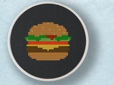 I effing love cheeseburgers.     Food Cross Stitch Pattern PDF File. $2.50, via Etsy.