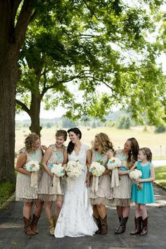 pictures of rustic weddings teal and tan | Rustic Teal Farm Wedding in Georgia Wedding ... | i hope to one day s ...