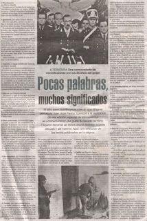 """El periódico argentino """"Página 12"""" Publica mi micro """"Reanimación"""" 2011 Patricia Nasello microrrelatos: Publicaciones en Argentina"""