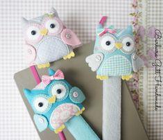 Barbara Handmade...: Sowie zakładki / Owl bookmarks