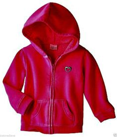 Jumping Beans Baby Girl's Pink Fleece Zip-Up Hoodie Jacket w/Heart - Sz 6mo #JumpingBeans #Hoodie #Everyday