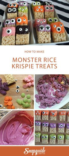 These Monster Rice Krispie Treats are adorable.