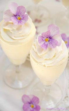 I have a light and lemony Mousse recipe to share today, that when piped into a beautiful parfait glass, swirled with homemade whippe. Tea Recipes, Dessert Recipes, Cooking Recipes, Lemon Mouse, Just Desserts, Delicious Desserts, Dessert Shots, Afternoon Tea Parties, Cakes For Boys