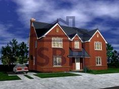 House Plans Uk, Villa, Cabin, Php, House Styles, Home Decor, Brick Exteriors, Style At Home, Entryway