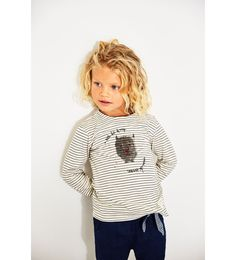 Image 1 of STRIPED MONSTER PRINT T-SHIRT from Zara