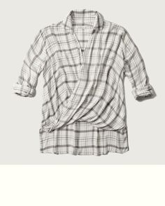 Womens Drapey Wrap Front Shirt | Womens Fall Lookbooks | Abercrombie.com