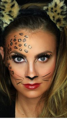4f865af1ffa5 Best Ideas For Makeup Tutorials Picture Description Rawwwr! N E W VIDEO! Sexy  Leopard Halloween Makeup Tutorial is now live! Click the link in my bio to  ...
