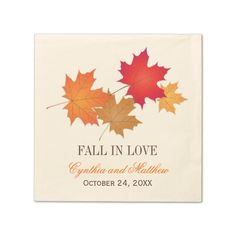 Wedding Monogram Napkins | Fall in Love