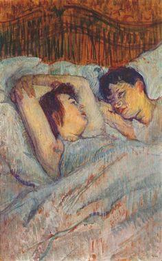 """""""In Bed"""" by Henri de Toulouse-Lautrec"""
