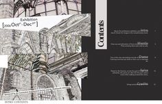 Architecture in CT by Valon Mela; table of contents design