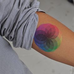 This website has a bunch of specially made temporary tattos..I love this colorwheel!
