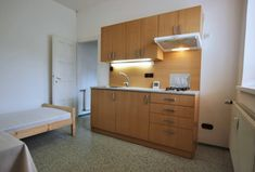Pronájem bytu Brno-Židenice, zařízený byt 1+kk Gebauerova, po částečné rekonstrukci, cihlový dům.