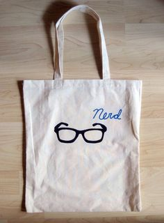 Nerd Glasses Tote Bag