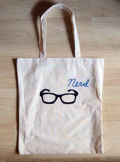Nerd Glasses Tote Bag