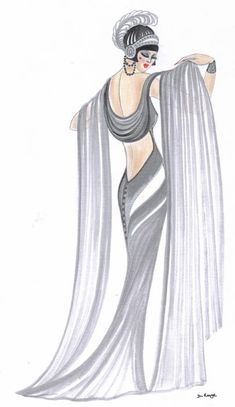 Grey Lady. Art deco era.