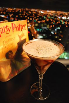 Harry Potter Mixology Bellatrix Lestrange  Ingredients:      1 oz Vodka     1 oz Bailey's Irish cream     1 oz Amaretto     1oz cream     Chocolate syrup     Top with cinnamon/crushed almonds click for directions