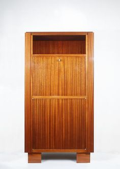 Jacques Adnet, Mahogany Cabinet, 1930s, 54H x 27.5W x 15D inches