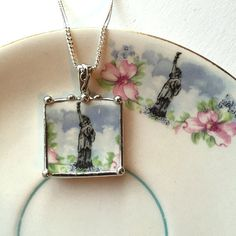 Dishfunctional Designs The original contemporary jewelry handcrafted from broken vintage china... Artist made broken china jewelry necklace