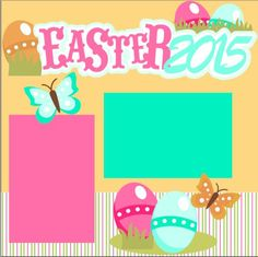Scrapbook Page Kit or Premade Layout 12X12 2-Page Easter 2015 Girl by MemoriesByDezyn on Etsy