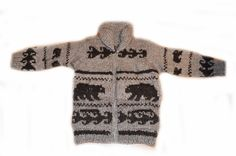 Cowichan Sweater  Authentic Coast Salish Native by FaceofNative  **Awesome!  #knitsweater  #handknit  #wool