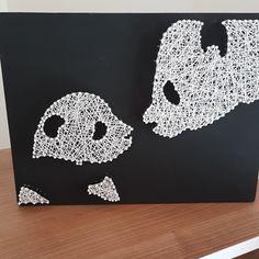 Panda family string art String Art Tutorials, String Art Patterns, Cute Panda Wallpaper, Panda Family, Panda Craft, Copper Wire Art, Panda Wallpapers, Diy And Crafts, Arts And Crafts
